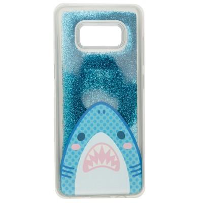 Capa para Telemóvel com Glitter (Samsung 8) - Tubarão