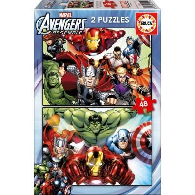 Puzzles Vingadores Avengers Marvel 2x48pcs