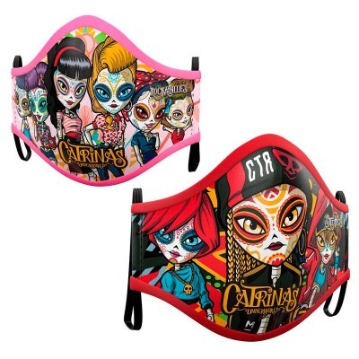 Pack 2 Máscaras Catrinas sortido juvenil