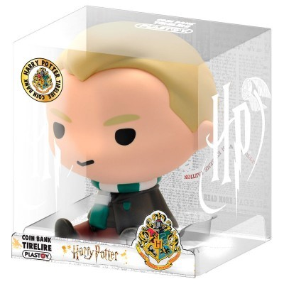 Figura Mealheiro Chibi Draco Malfoy Harry Potter 16cm
