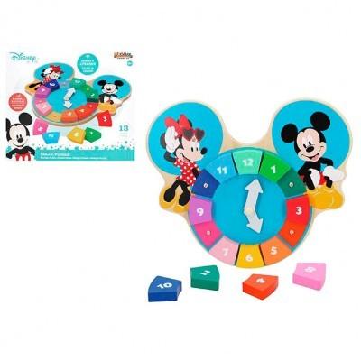Relógio puzzle madeira Mickey Disney