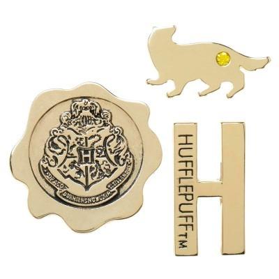 Conjunto 3 pin Hufflepuff Harry Potter