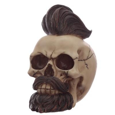 Caveira Ornamento com Barba e Corte da Moda