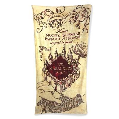 Toalha Marauders Map Harry Potter algodão