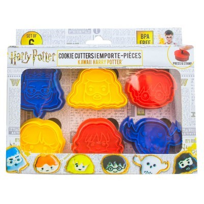 Pack 6 moldes biscoitos Harry Potter