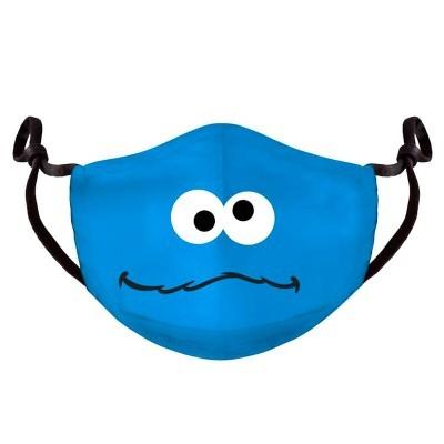 Máscara reutilizável Monstruo de las Galletas Rua Sésamo