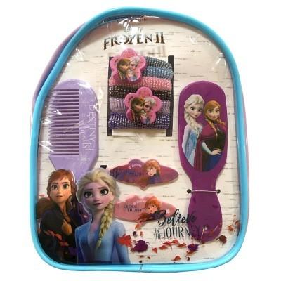 Mochila Acessórios cabelo Frozen 2 Disney 12pcs