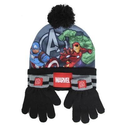 Conjunto gorro luvas Vingadores Avengers Marvel