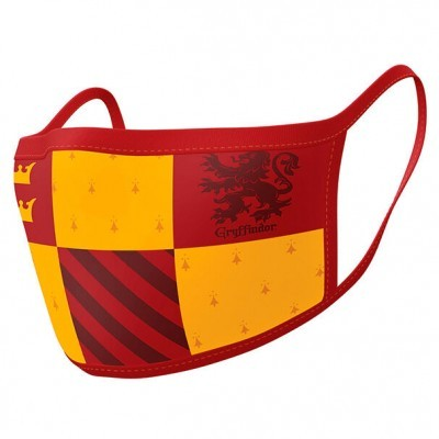 Pack 2 Máscaras reutilizávels premium Gryfindor Harry Potter
