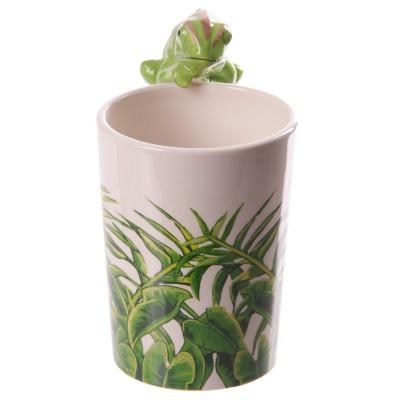 Caneca de cerâmica com Asa em forma de Camaleão