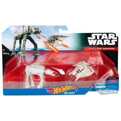 Blister AT-AT vs Rebel Snowspeeder Star Wars Hot Wheels