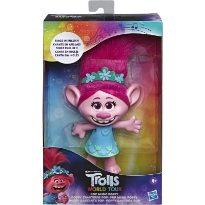 Boneca cantarina Poppy Trolls World Tour
