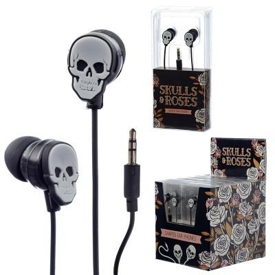 Auriculares em forma de Caveira - Skulls & Roses