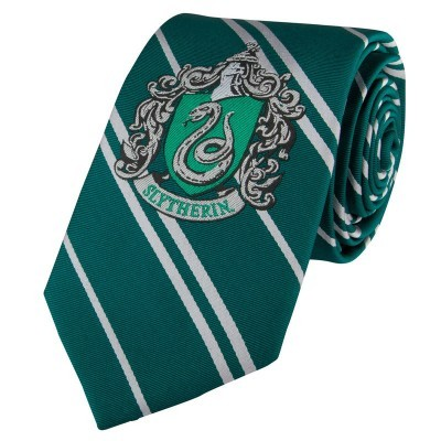 Gravata Slytherin Harry Potter tecido