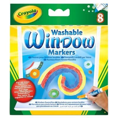 Blister 8 Marcadores para janela laváveis Crayola