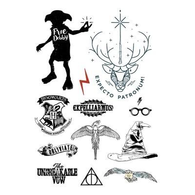 Conjunto 35 tatuagens temporárias Harry Potter