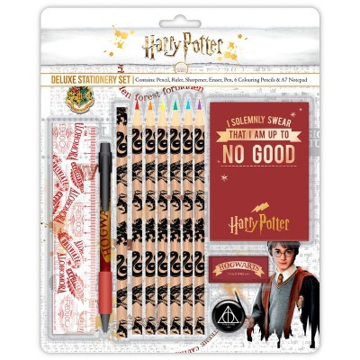 Conjunto papelaria deluxe Harry Potter Hogwarts