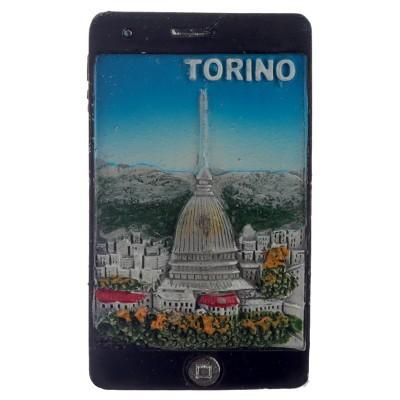 Magnético - Iphone com paisagem de Torino