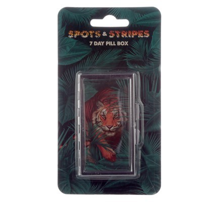 Handy 7 Day Pill Box - Big Cat Spots and Stripes