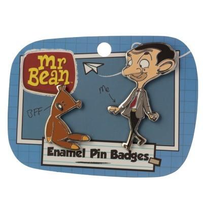Conjunto de 2 Pins - Mr Bean e Teddy