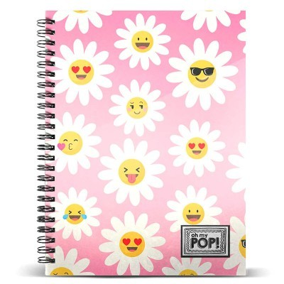Caderno A4 Oh My Pop Happy Flower