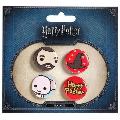Conjunto 4 pin Harry Potter sortido