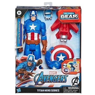 Figura Titan Capitão América Vingadores Avengers Marvel