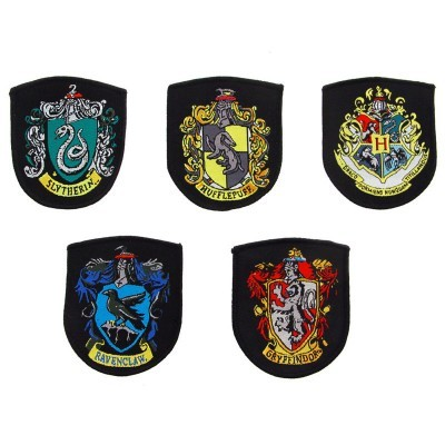 Conjunto 5 patches / remendos Hogwarts Harry Potter