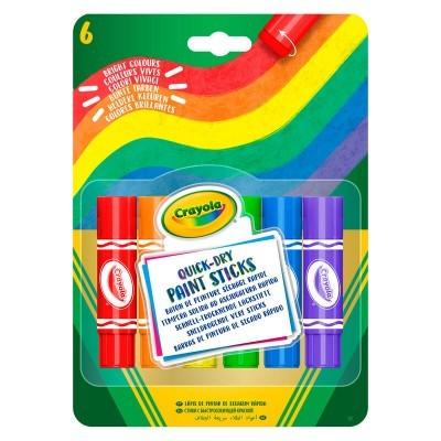 Conjunto 6 tintas sólidas Crayola