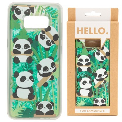 Capa para Telemóvel com Glitter (Samsung 8) - Panda
