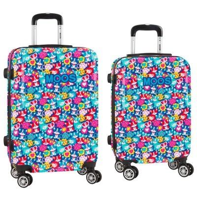 Conjunto 2 maletas Troley ABS Moos Corgi 4r 55/63cm