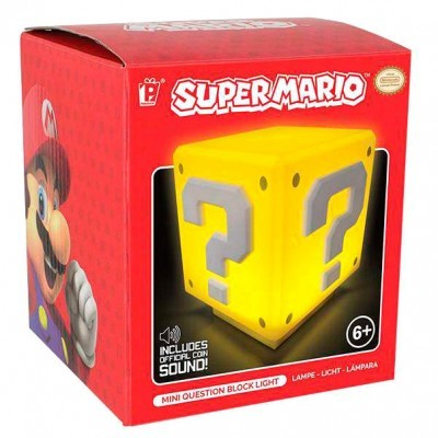 Lampâda com som Question Block Super Mario Bros Nintendo