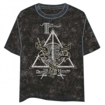 T-shirt Deathly Hallows Harry Potter adulto