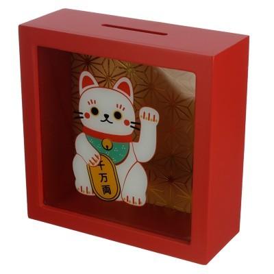 Mealheiro transparente - Gato da sorte Maneki Neko