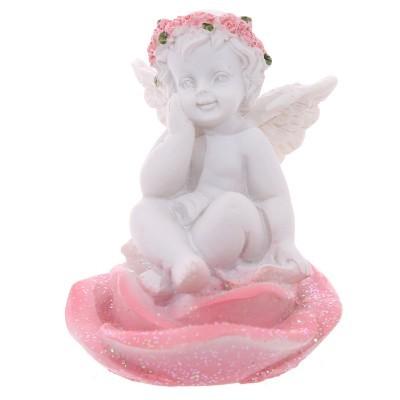 Anjos sentados sobre Rosa