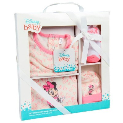 Conjunto oferta de bem-vindas bebé Minnie Disney