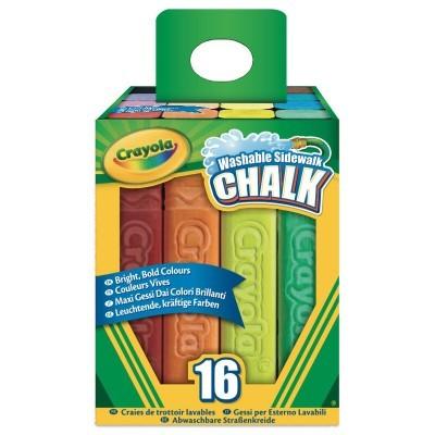 Blister 16 maxi tizas de solo laváveis Crayola