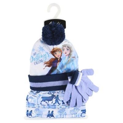 Conjunto gorro luvas Cachecol Frozen 2 Disney