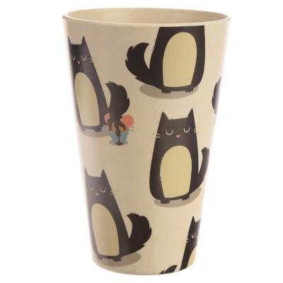 Copo bambu eco reutilizável - Feline Fine