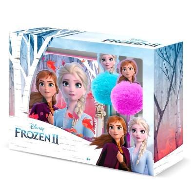 Conjunto Diário + Caneta Frozen 2 Disney