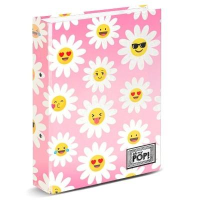 Capa A4 Oh My Pop Happy Flower de argolas