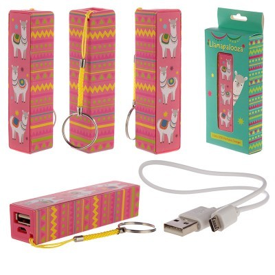 Bateria portátil usb Lama Llamapalooza (porta-chaves)