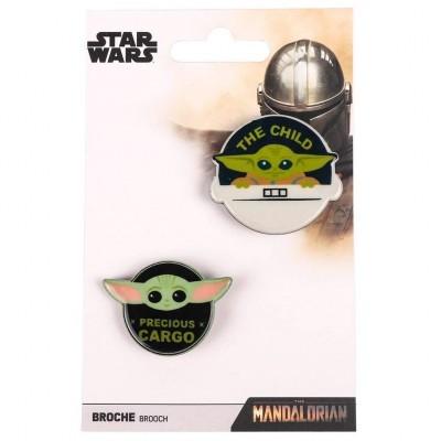 Set 2 alfinetes Yoda Child The Mandalorian Star Wars