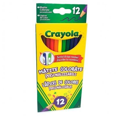 Blisetr 12 lápis de cores personalizáveis Crayola