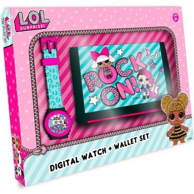 Conjunto oferta LOL Surprise Relógio + carteira