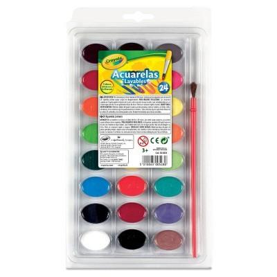 Conjunto 24 aquarelas laváveis Crayola