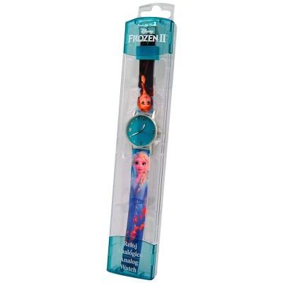 Relógio analógico glitter Frozen 2 Disney