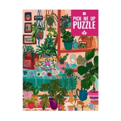 Puzzle casa com plantas