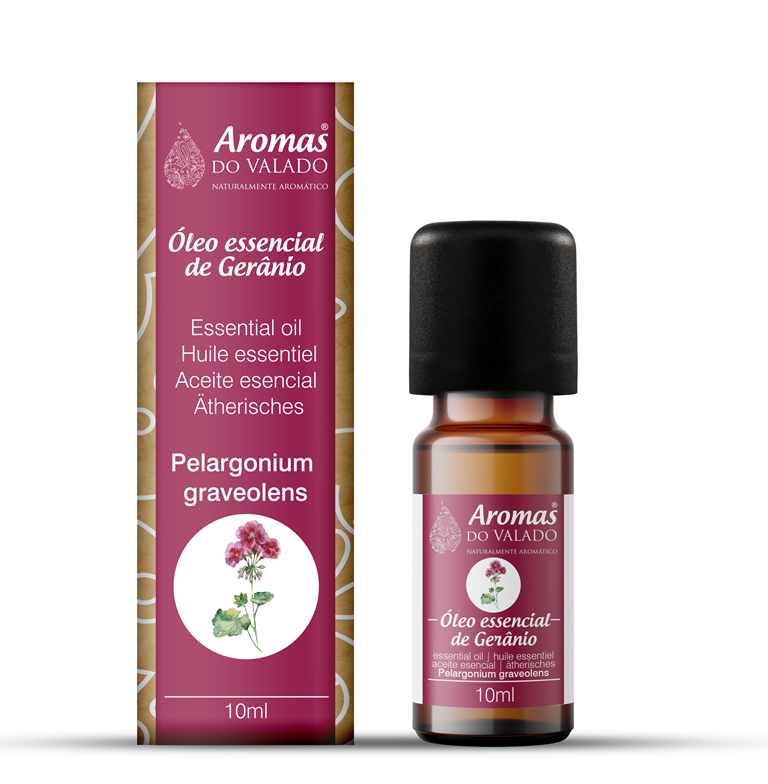 Oléo Essencial de Gerânio 10 ml - Aromas do Valado