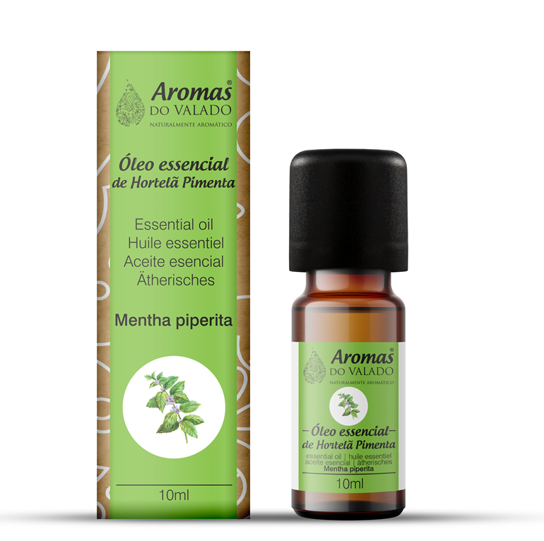 Oléo Essencial de Hortelã Pimenta 10 ml -Aromas do Valado